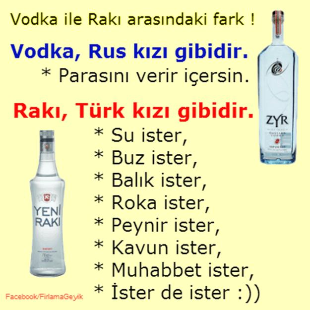 Водка и ракие, перевод с турецкого