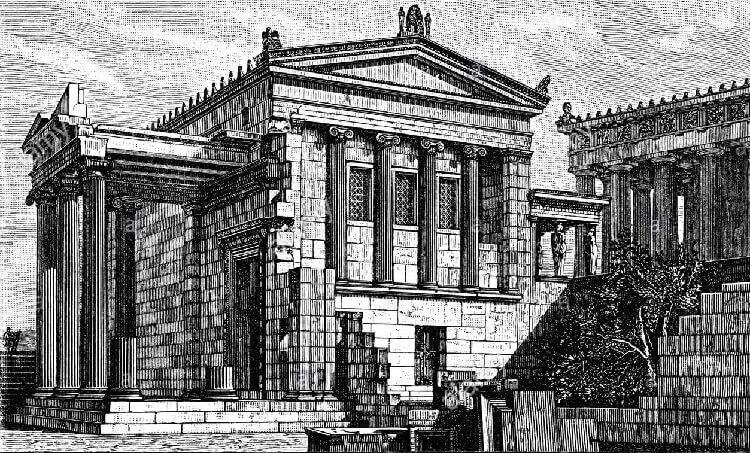 Храм в древней Греции